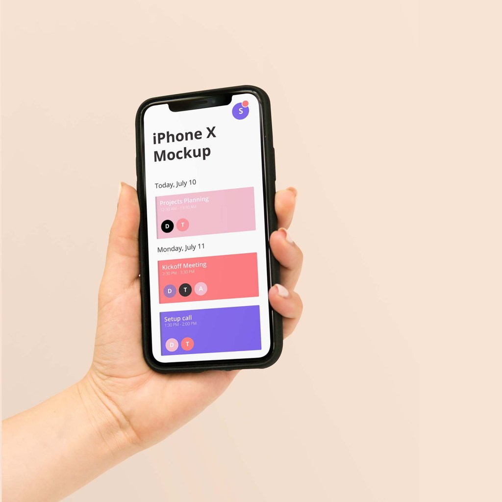 10 free iphone in hand mockup 2020 mockupbase