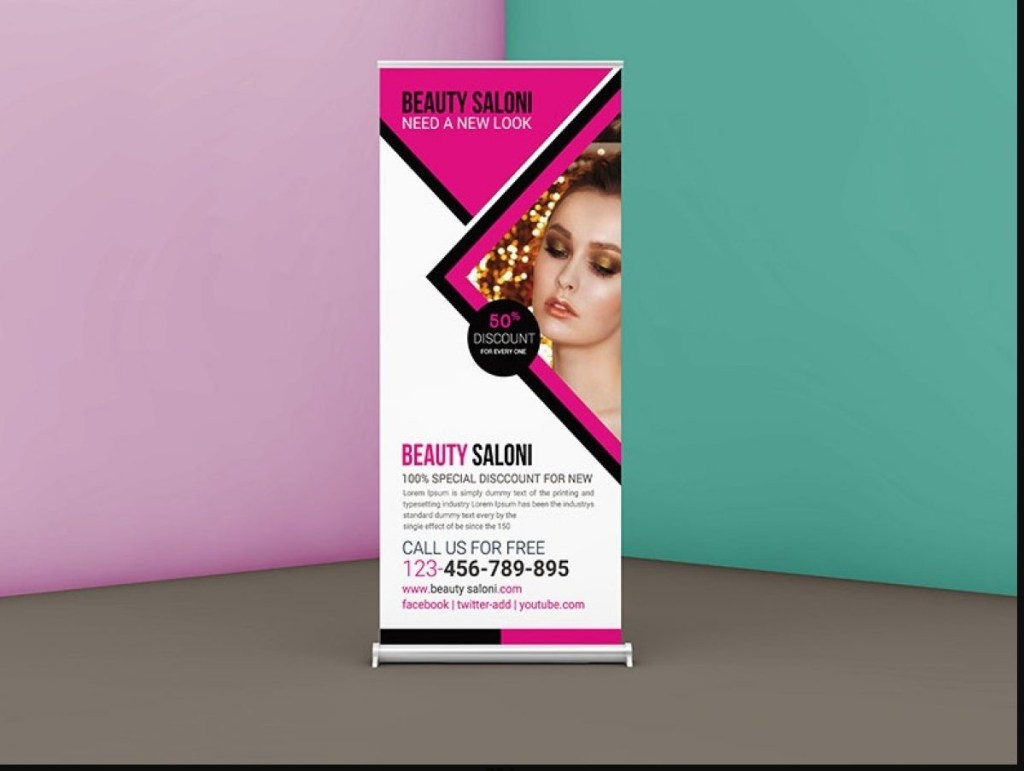 11 roll up banner mockup psd free for advertising graphic