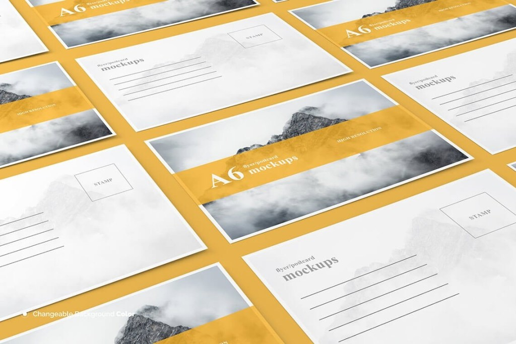 15 postcard mockup templates for your great stories