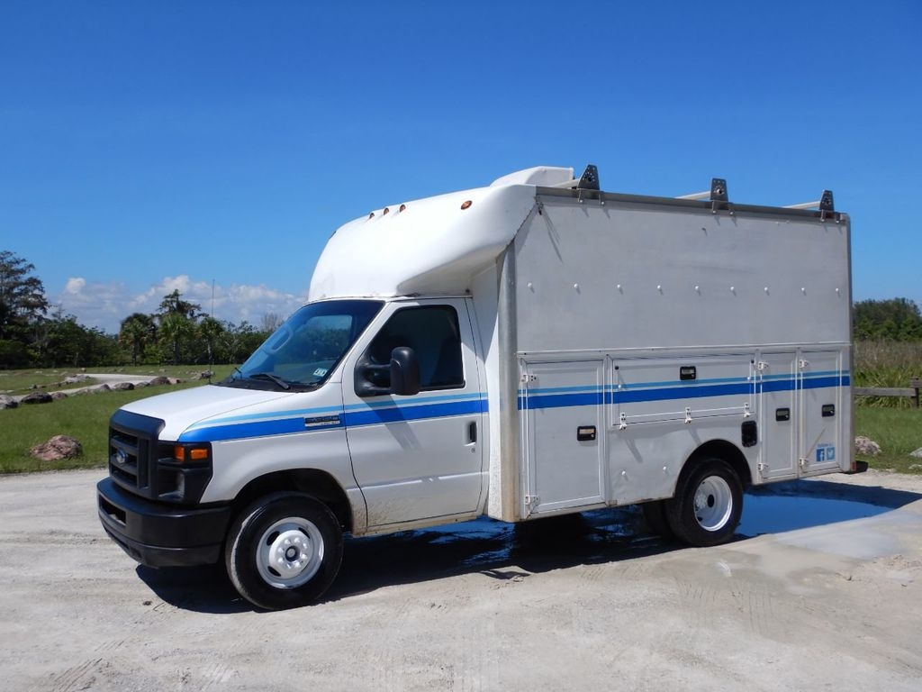 2008 ford e 350 kuv box truck w side tool boxes ac power
