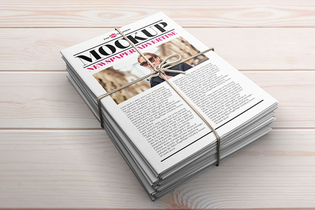 30 newspaper mockups for entrepreneurs and editors 2020