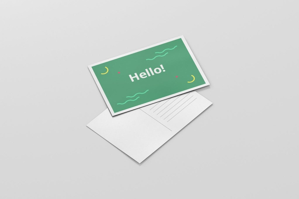 35 awesome postcard psd mockup templates decolore