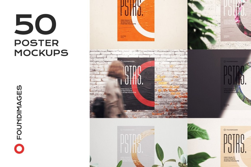 60 poster mockup templates for showcasing designs