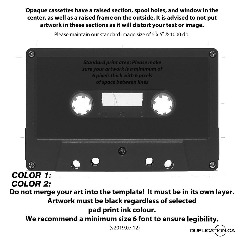 audio cassette cover template downloads