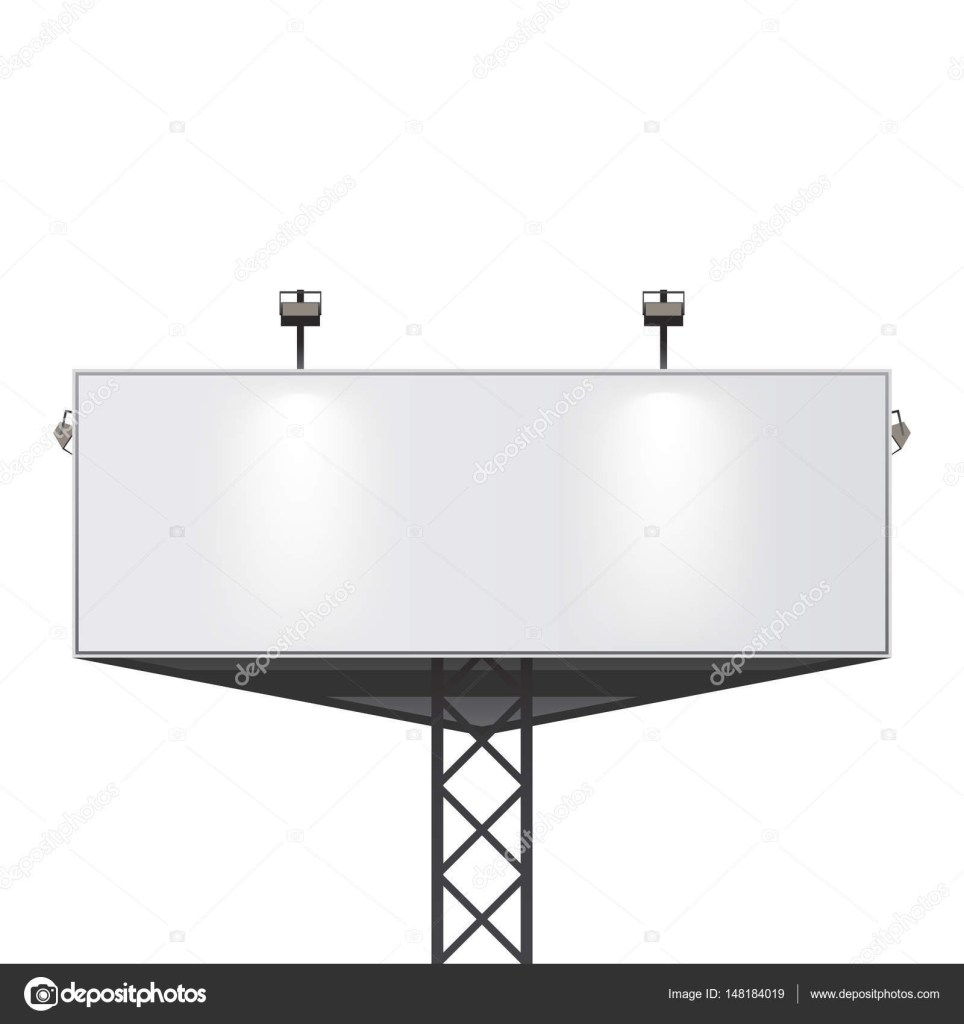 big billboard template empty banner for your design 148184019