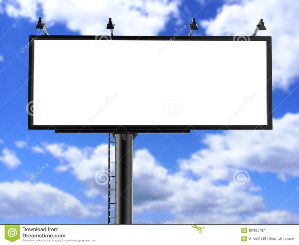 billboard blank white for outdoor advertising poster or