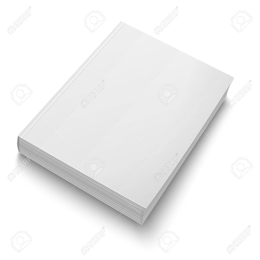 blank softcover book template on white
