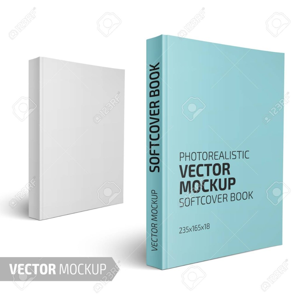 blank vertical softcover book template