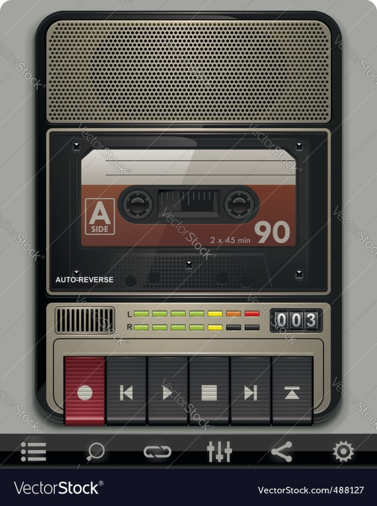 cassette recorder template royalty free vector image