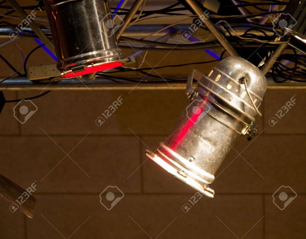 details of theater music concert exhibition stage lights background