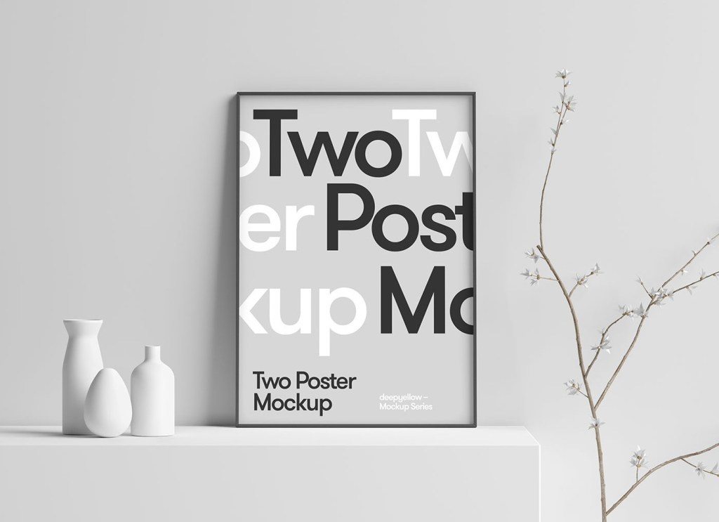 free 3d scene photo poster frame mockup psd good mockups