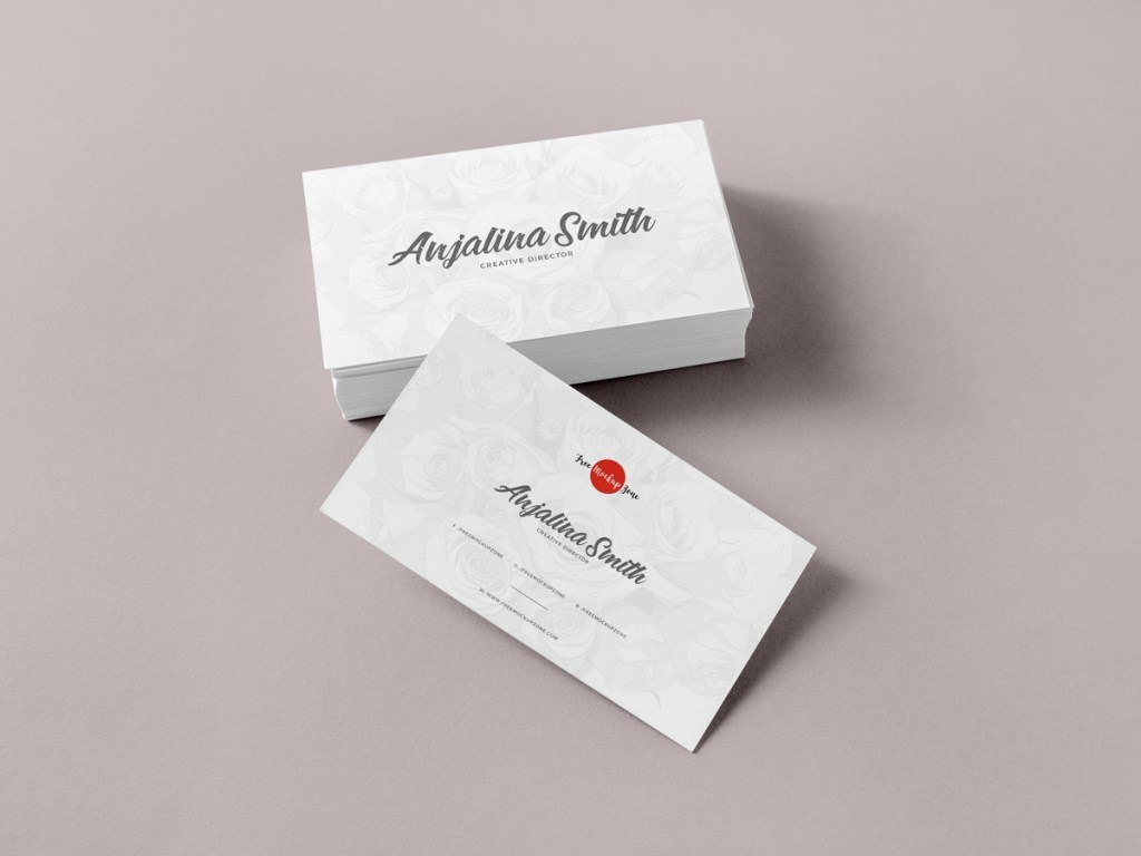 free brand business cards mockup psd for presentation free