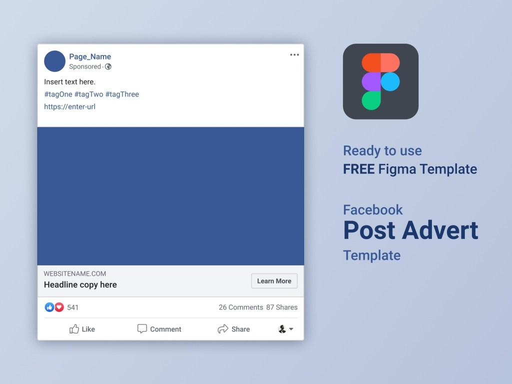 free figma facebook advert post template ernest gerber on