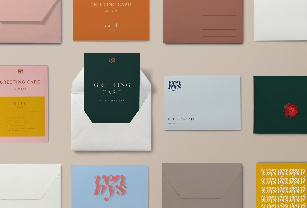 free greeting card mockup free mockups stationery