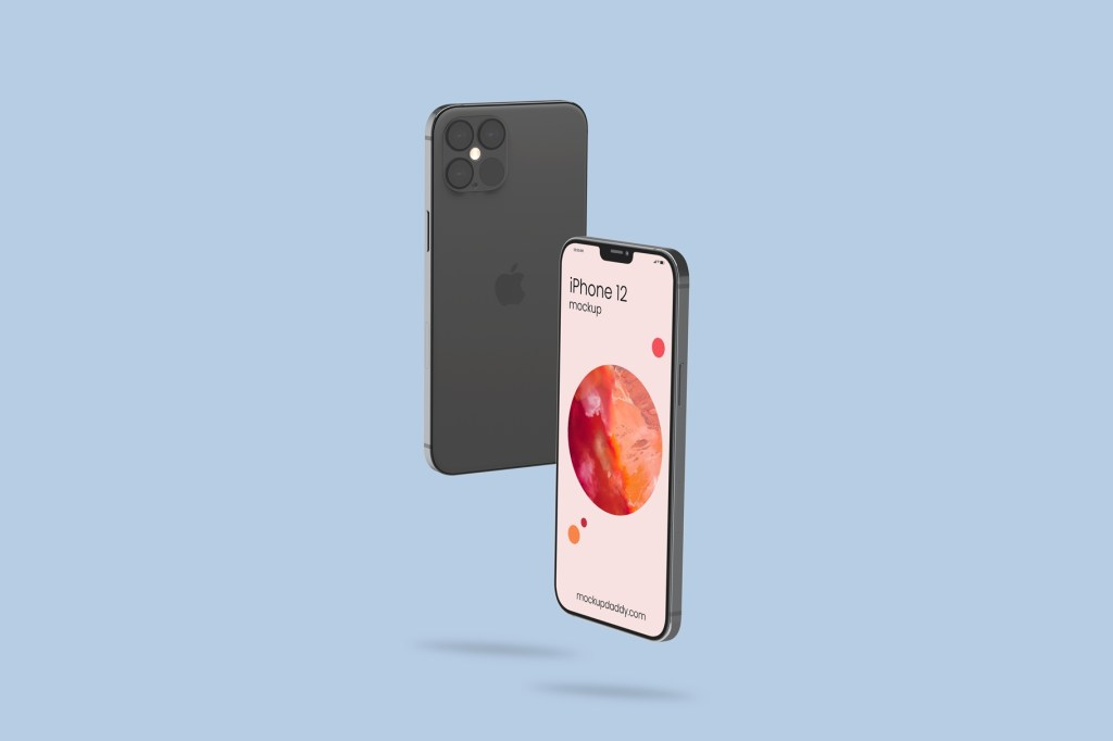 free iphone 12 psd mockup in the world of design