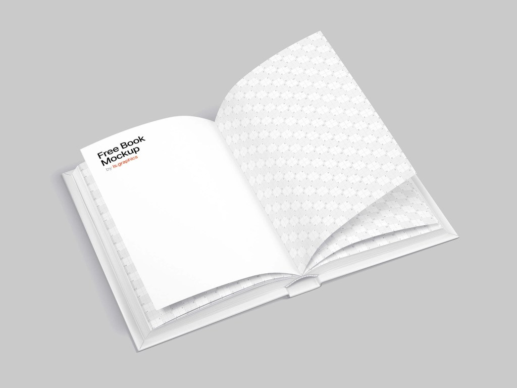 free opened book mockup lsgraphics