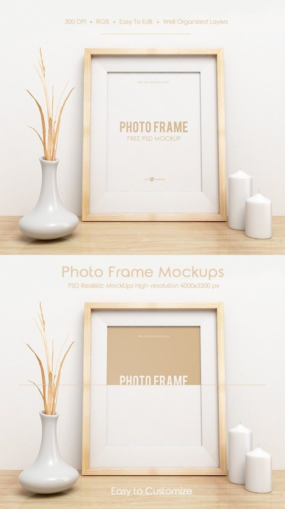 free photo frame mock up in psd free psd templates