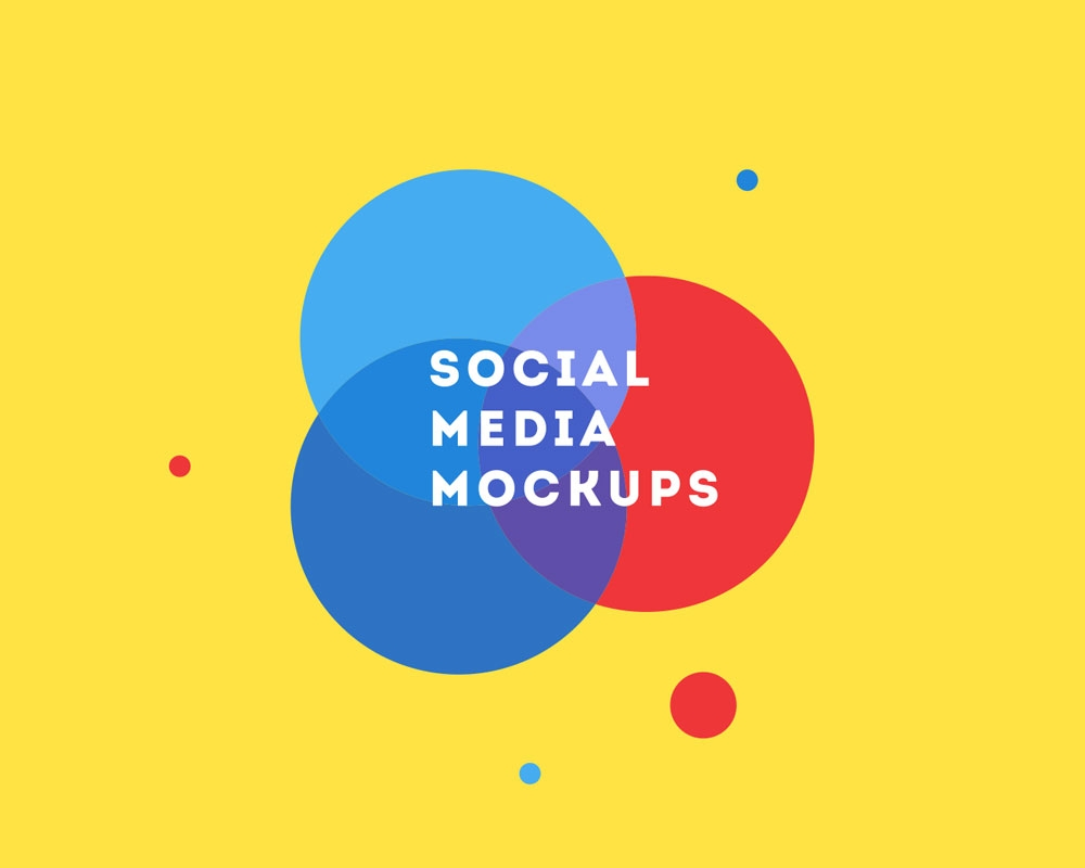 free social media mockup psd for facebook youtube and twitter