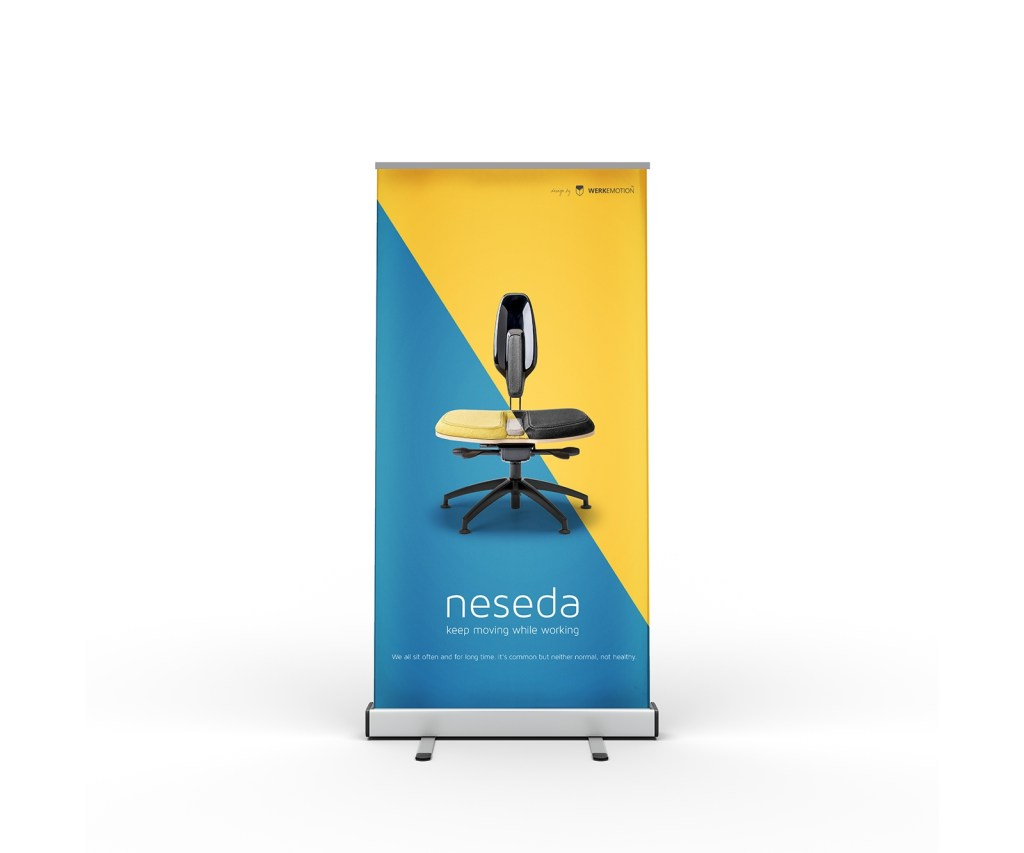 free stand roll up banner mockup free mockup