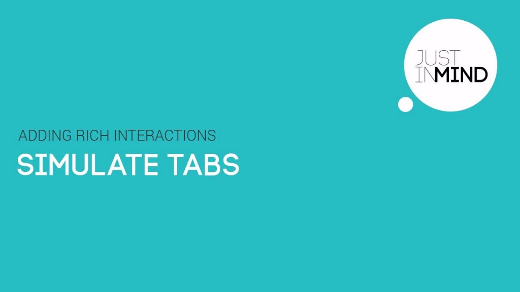 how to simulate tabs in your web and mobile wireframes