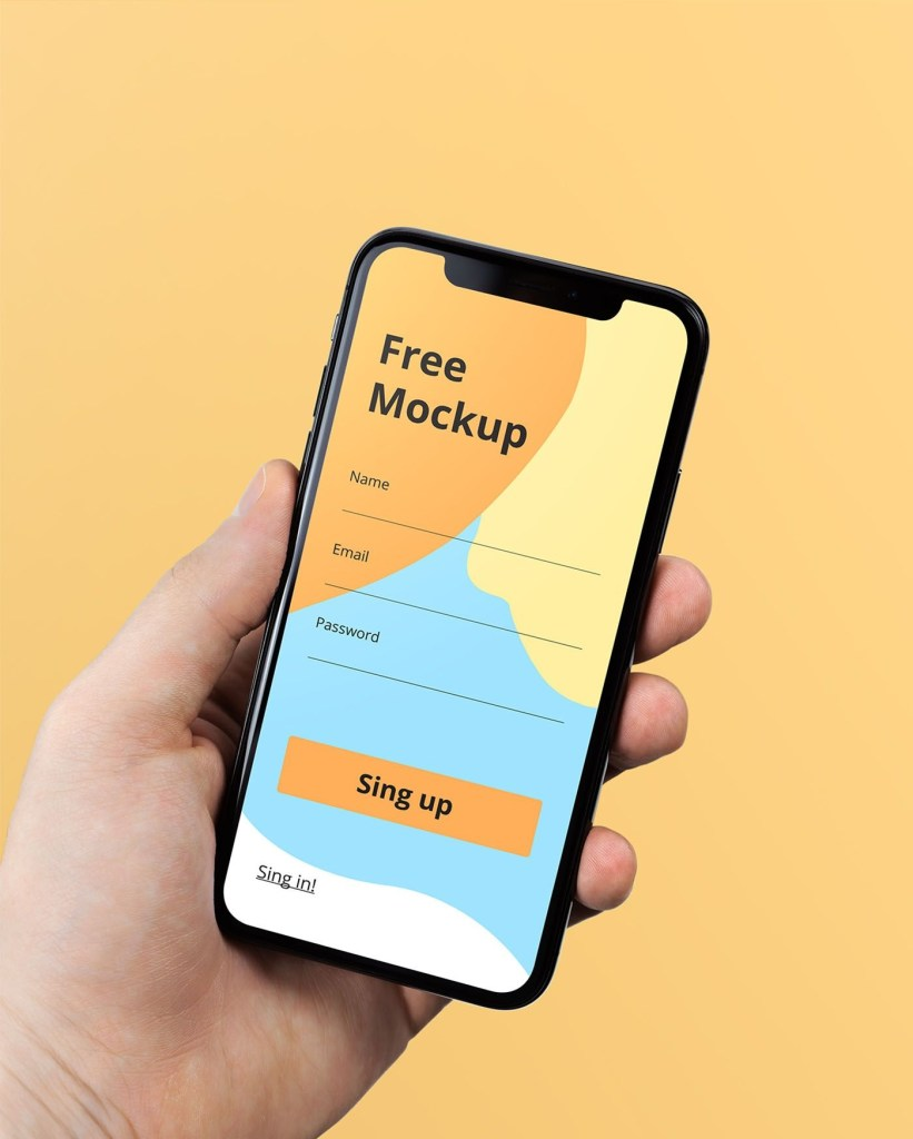 iphone x in hand free psd mockup mockup free psd iphone