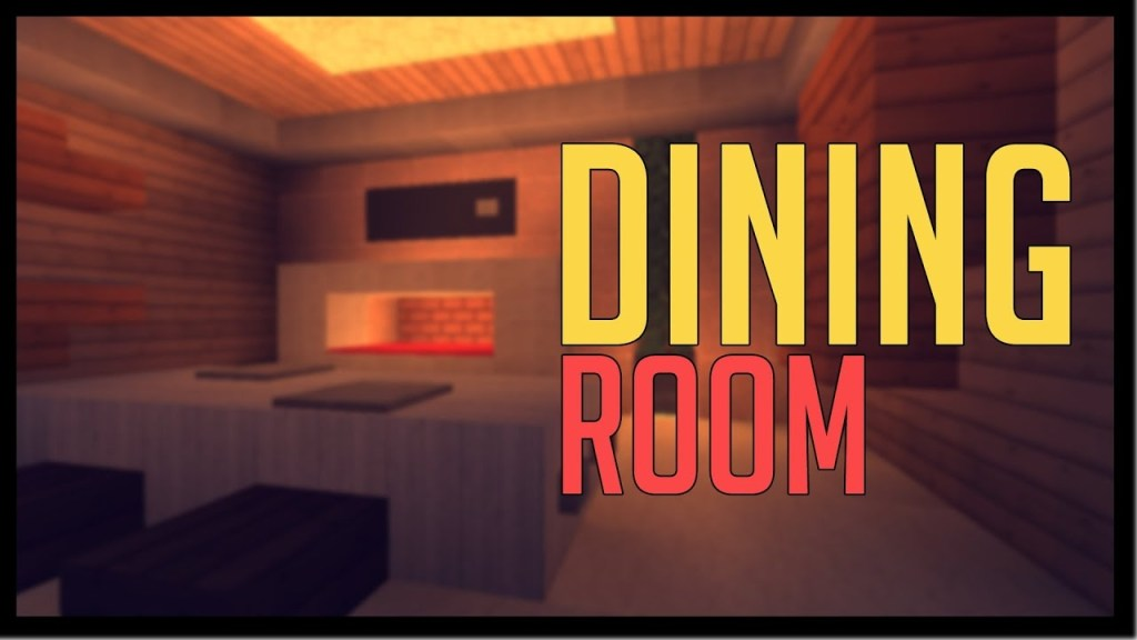 minecraft modern designs dining room youtube