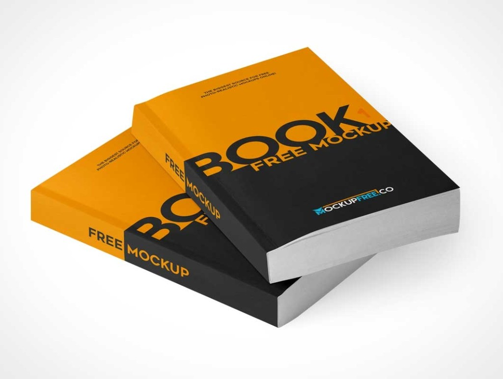 paperback softcover books stacked covers inside pages psd