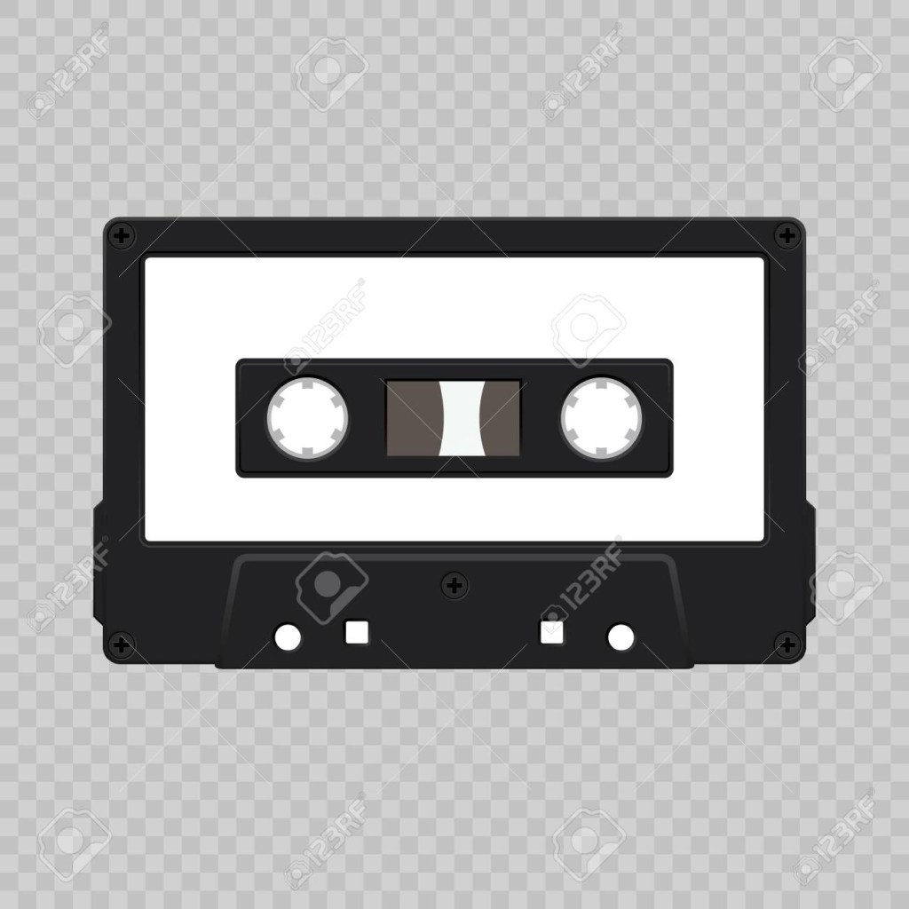 realistic retro audio cassette tape template for your design