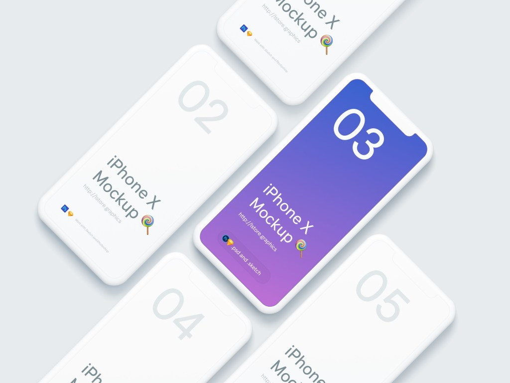 simple iphone x mockups lsgraphics
