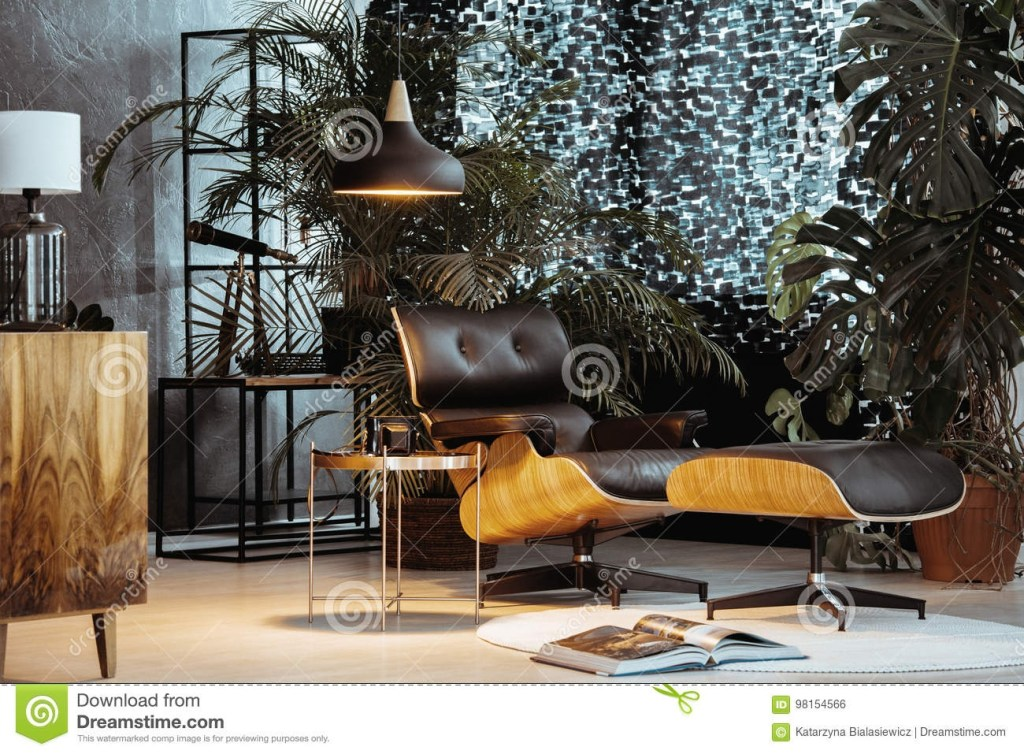 small dark living room stock photo image of home leather