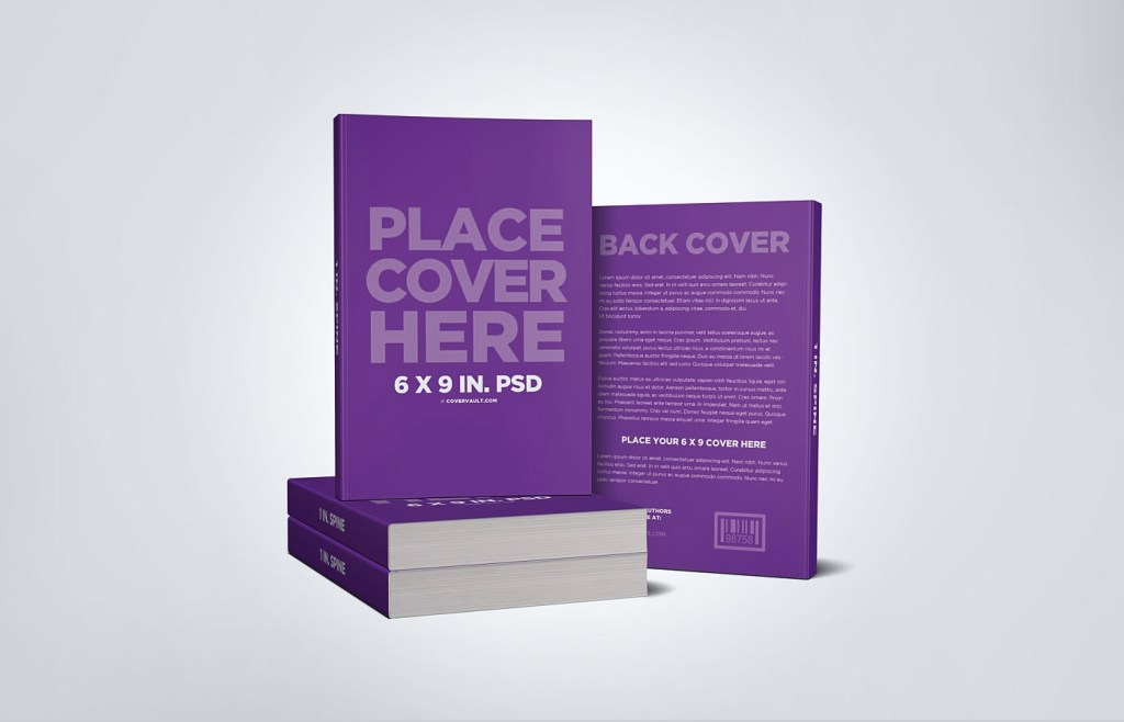 stacked book mockup with back cover best free mockups