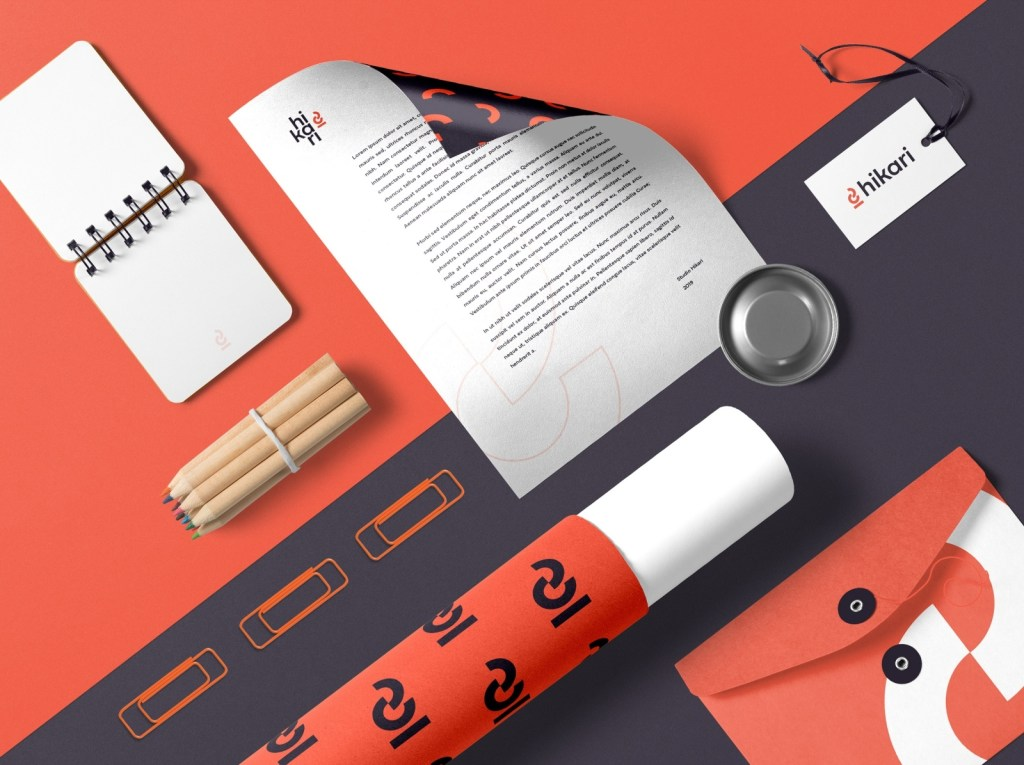 stationery branding mockup free psd ui download