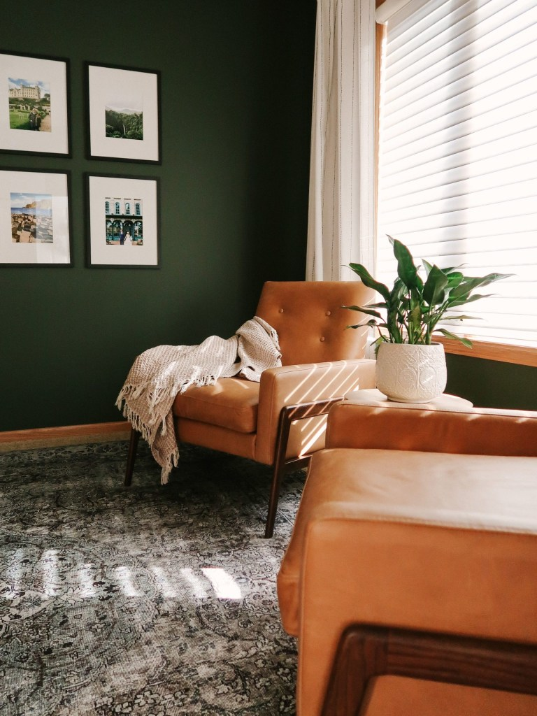 tips for decorating a living room with dark bold paint