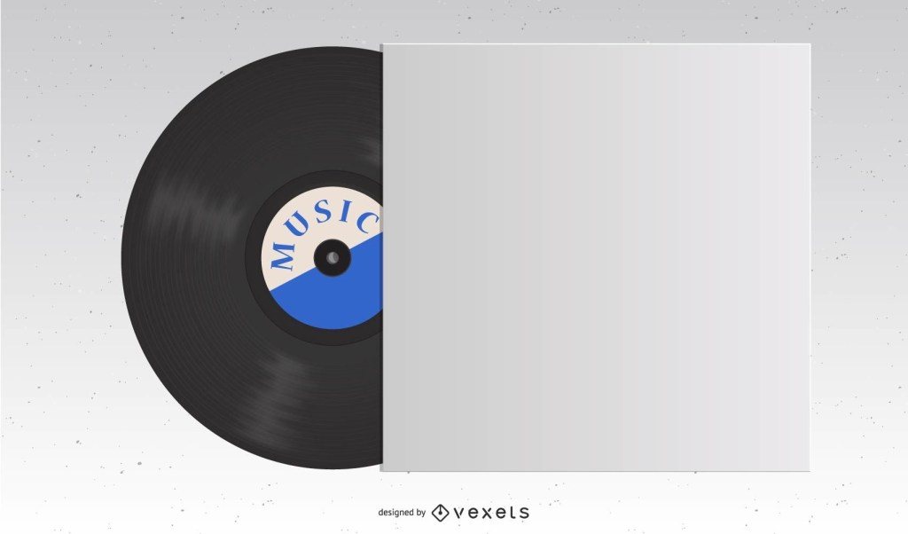 vinyl record template vector download