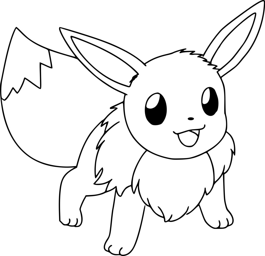 Eevee Coloring Pages Ideas