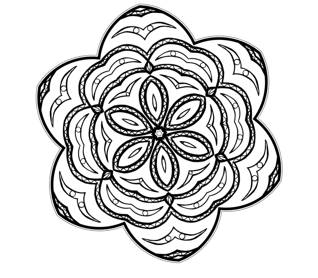 Abstract Adult Coloring Pages