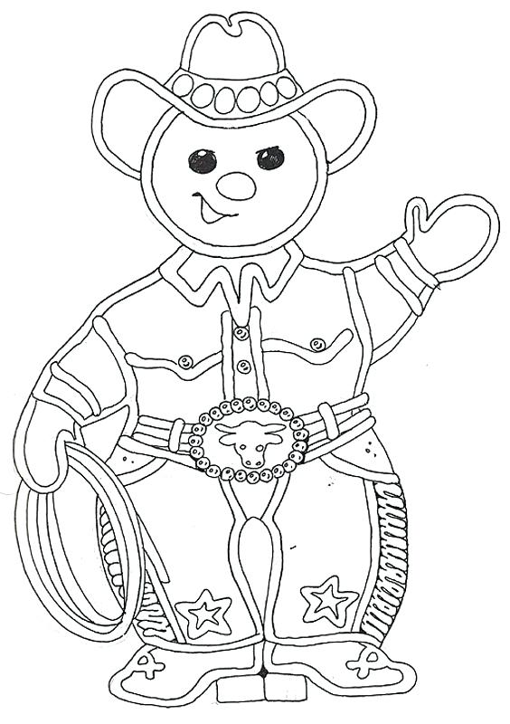Best Gingerbread Coloring Page Printable