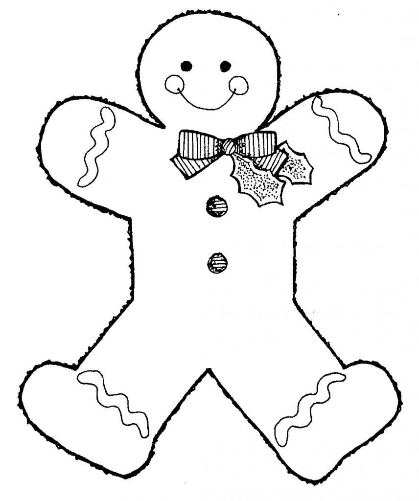 Blank Gingerbread Man Coloring Page