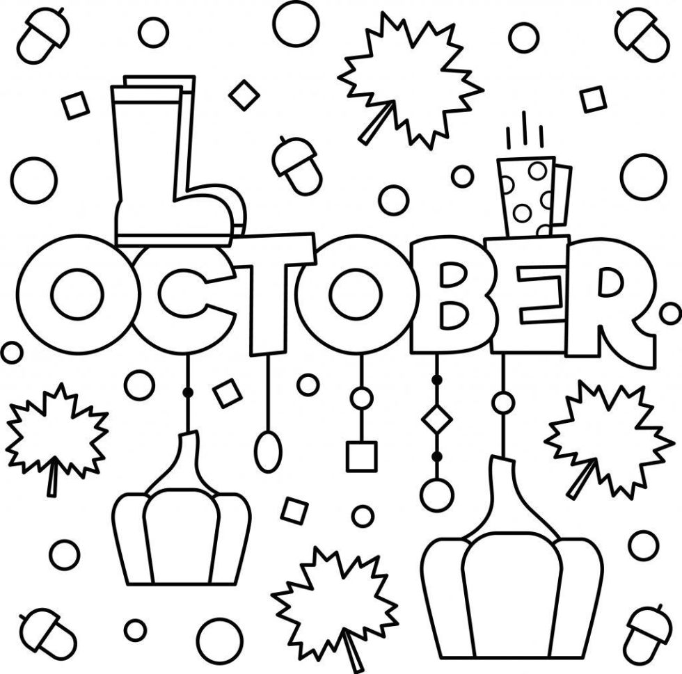 Coloring Calendar Pages October