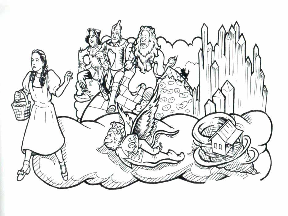 Coloring Pages Wizard Of Oz