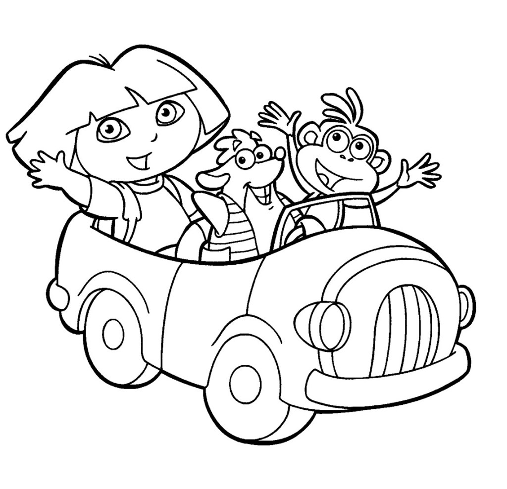 Dora Coloring Pages Free Printable