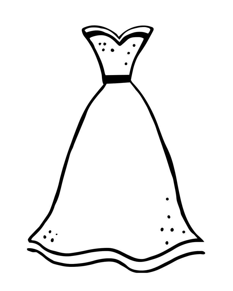 Fashion Dress Coloring Pages Pictures