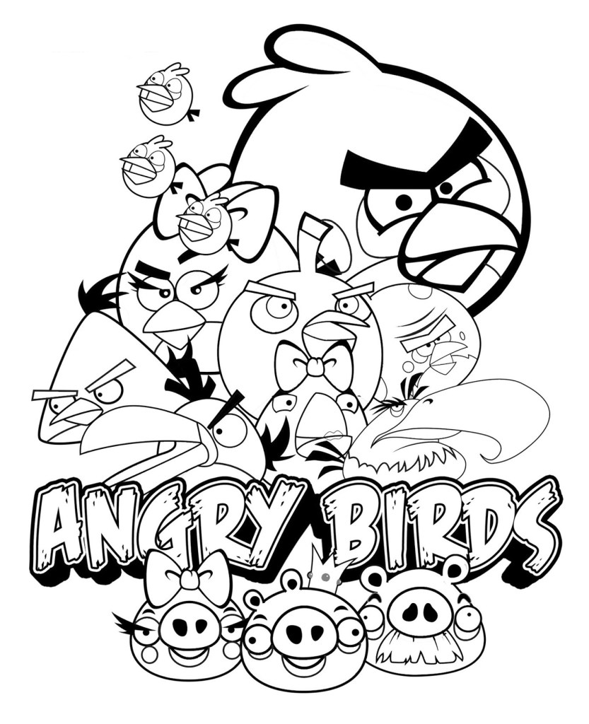 Free Angry Birds Coloring Pages Ideas