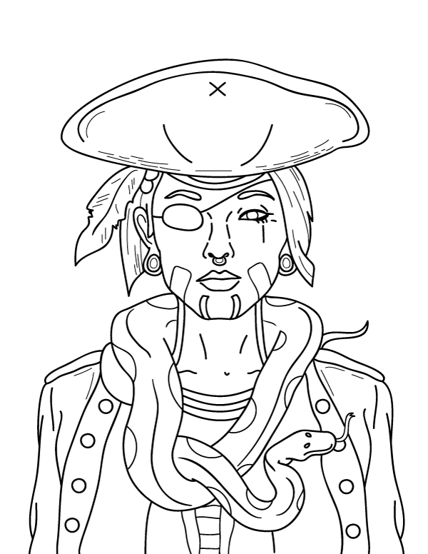 Free Pirate Coloring Pages Ideas