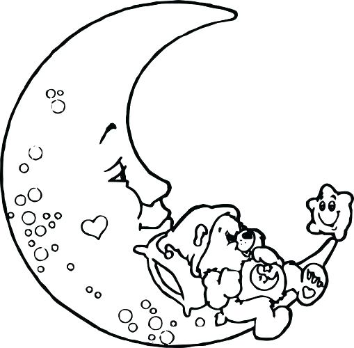 Full Moon Coloring Pages