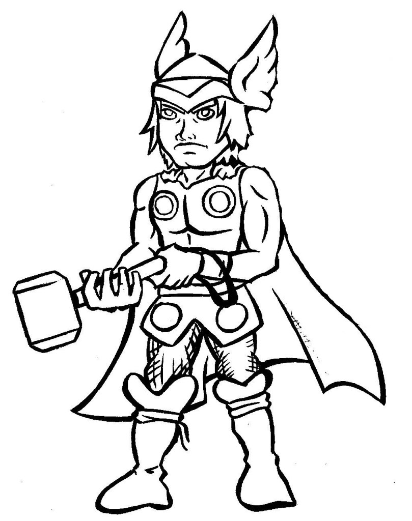 Lego Thor Coloring Pages