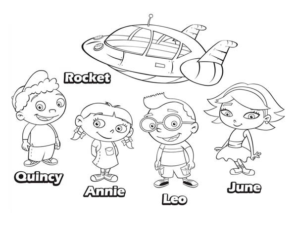 Little Einsteins Coloring Pages Wallpaper