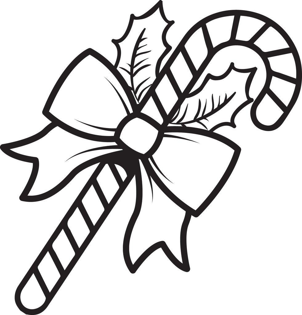 New Candy Cane Coloring Page Photo