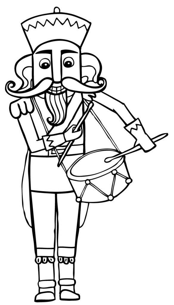 Nutcracker Coloring Page To Print