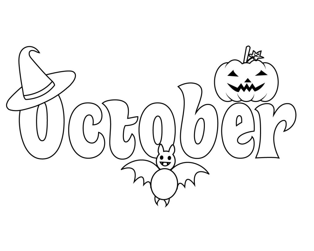 Printable October Coloring Pages